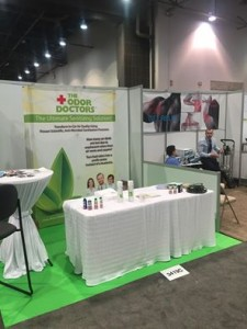 The Odor Doctors Set Up Booth at NADA 2016